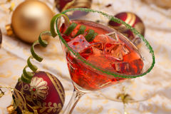 De cocktail van Kerstmis stock foto