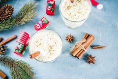 De cocktail van de Kerstmiseierpunch stock fotografie