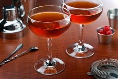 De cocktail van Manhattan royalty-vrije stock afbeelding