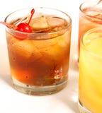 De Cocktail van Manhattan op de Rots Royalty-vrije Stock Foto's
