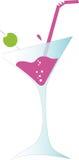 De cocktail van martini met olijf stock illustratie