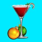 De Cocktail van vakantiekerstmis Stock Foto