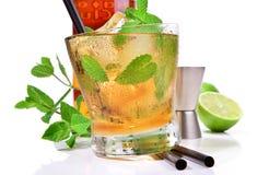 De Cocktail van de wiskymunt stock afbeelding
