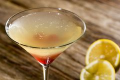 De cocktailglas van Matini Stock Foto