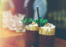 De cocktails met koffie sluiten omhoog Stock Fotografie