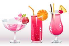 De cocktails van bessen vector illustratie