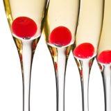 De Cocktails van Champgane van de kers stock foto