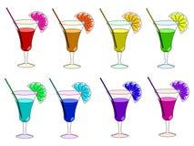 De cocktails van de regenboog Stock Foto's