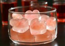 De Cocktails van de valentijnskaart Stock Afbeelding