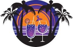 De cocktails van de zomer vector illustratie