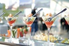 De cocktails van garnalen Stock Afbeelding