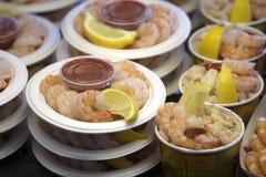 De cocktails van garnalen en van zeevruchten Royalty-vrije Stock Foto