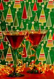De Cocktails van Kerstmis stock afbeelding