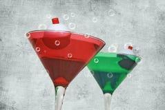 De Cocktails van Kerstmis stock foto's
