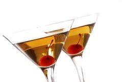 De cocktails van Manhattan Stock Foto's