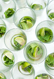 De cocktails van Mojito royalty-vrije stock afbeeldingen