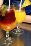 De cocktails van vruchten Stock Afbeeldingen