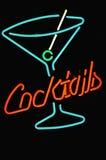 De cocktailteken van het neon Stock Foto's