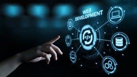 De Codage die van de Webontwikkeling Internet-Technologie Bedrijfsconcept programmeren royalty-vrije stock afbeelding