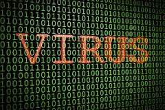De code van het virus Stock Afbeelding