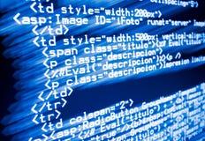 De code van het Web Stock Fotografie