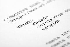 De code van HTML Royalty-vrije Stock Afbeeldingen