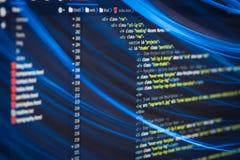 De code van HTML en CSS Royalty-vrije Stock Afbeelding