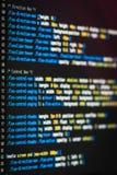 De code van HTML en CSS Royalty-vrije Stock Fotografie