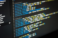 De code van HTML en CSS Royalty-vrije Stock Foto