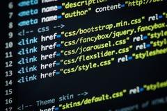 De code van HTML en CSS Royalty-vrije Stock Foto's