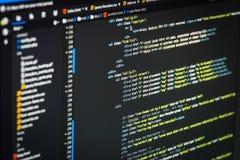 De code van HTML en CSS Stock Foto's
