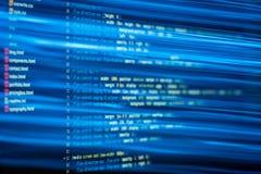De code van HTML en CSS en kleurrijke lichteffecten Royalty-vrije Stock Fotografie