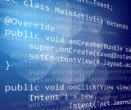 De code van Java Royalty-vrije Stock Foto