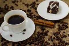 De Coffe de haricot toujours la vie Images libres de droits