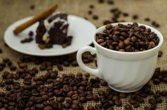 De Coffe de haricot toujours la vie Image libre de droits