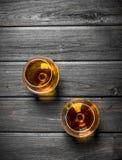 De cognac in de glazen royalty-vrije stock foto