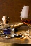 De cognac van de schrijver royalty-vrije stock fotografie
