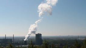 De Cokesfabriek bloeit in Bottrop, Duitsland stock videobeelden