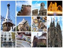 De collage van Barcelona Stock Afbeelding