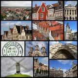 De collage van België Stock Foto's