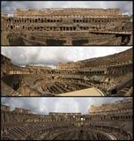 De collage van Coliseum stock fotografie