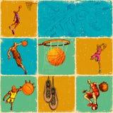 De Collage van de Bal van de mand Stock Foto's