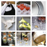 De collage van de catering