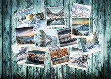 De collage van de de winterfoto van Noorwegen royalty-vrije stock afbeelding