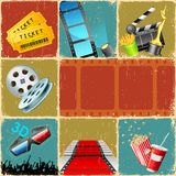 De Collage van de film Stock Foto