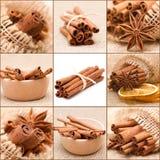 De collage van de kaneel Stock Foto's