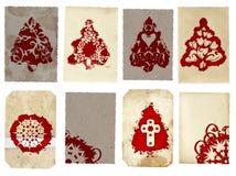 De collage van de Kerstkaarten van Grunge Royalty-vrije Stock Fotografie