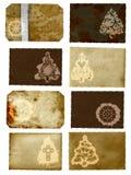 De collage van de Kerstkaarten van Grunge Stock Foto