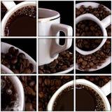 De collage van de koffie royalty-vrije stock foto