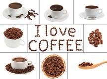 De collage van de koffie Royalty-vrije Stock Foto's